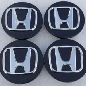 4x Centro Tapon De Rin Honda 70mm Negro Crv B1