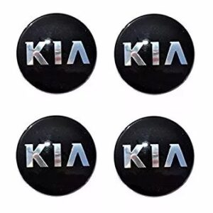 4x Centros Tapon De Rin Kia 59mm Negros
