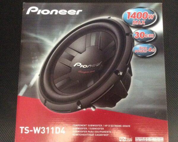 Woofer Pioneer 12 Pulgadas Doble Bobina Modelo Ts-w311d4 B1