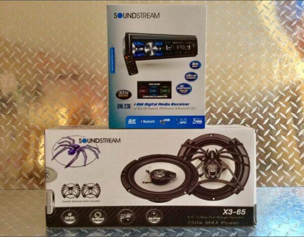 Estereo Universal Soundstream Bluetooth Multicolor Con Bocinas 6.5 B1