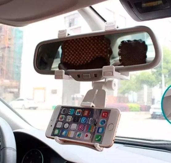Soporte Celular Auto Espejo Retrovisor Uber Sujetador B1