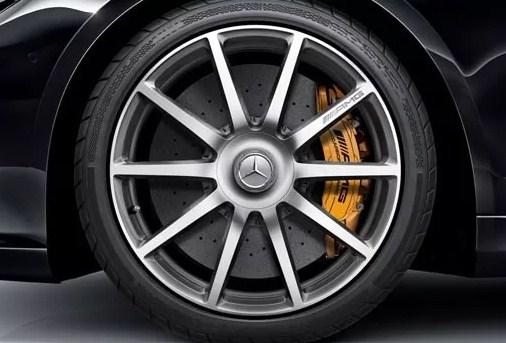 4x Centro Tapon Rin Mercedes Benz 75mm Plata