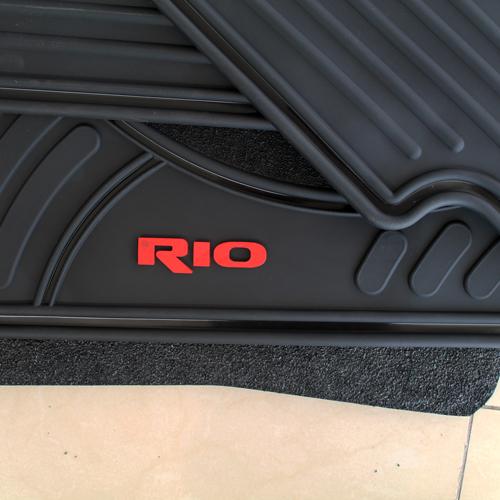 Tapetes Originales Kia Río 2018-2019 Letras Rojas Envío Gratis